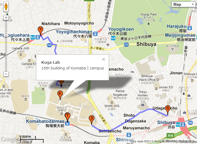 Access to Komaba Campus